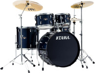 Tama Imperialstar IE52C 5-piece Complete Drum Set with Snare Drum and Meinl Cymbals - Dark Blue