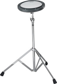 """REMO Practice Pad, 10"""" Diameter, Gray, Coated Head, With Stand"""