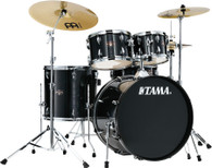 Tama Imperialstar IE52C 5-piece Complete Drum Set with Snare Drum and Meinl Cymbal - Hairline Black