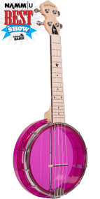 Gold Tone Little Gem (Amethyst): See-Through Banjo-Ukulele with Gigbag