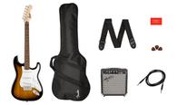 Fender Stratocaster® Pack, Laurel Fingerboard, Brown Sunburst, Gig Bag, Amp, Tuner. Strap. etc.