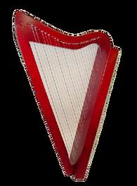 Rees Harps Harpsicle Harp - 26 strings - Red