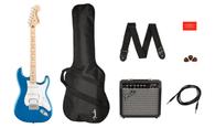 Squier Affinity Series Stratocaster HSS Pack, Lake Placid Blue, Gig Bag, Amp 15G - 120V