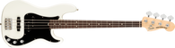 Fender American Performer Precision Bass®, Rosewood Fingerboard, Arctic White w/ Deluxe Gigbag