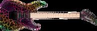 Jackson Pro Series Soloist™ SL3M, Maple Fingerboard, Rainbow Crackle