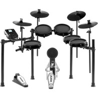 Alesis Nitro Mesh Kit 8-Piece Compact Drum Kit with 300+ Sounds, Kick Pedal, and Drum Rack