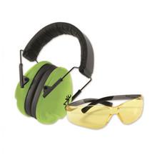 Browning Junior Range Kit - Earmuffs, Ear Plugs, Glasses