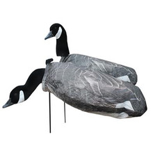 White Rock Canada Goose Windsock Decoys - 1 Dozen - 6 Feeders/6 Upright- CGH