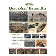 Avery Quick-Set Boat Blind Kit 14-16' Mossy Oak Bottomland Camo