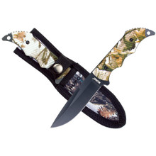 Ruko Camo Fixed Blade Guthook Knife with Sheath - 770583981644