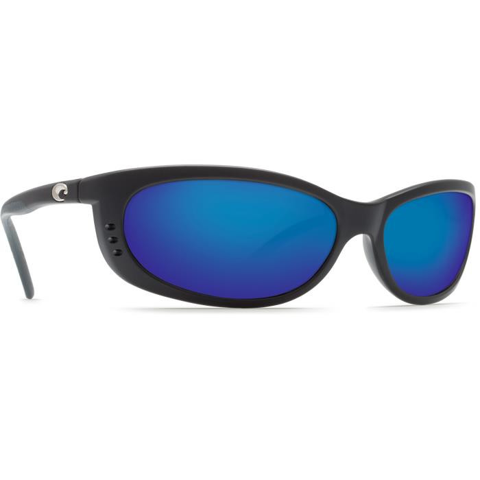 3746cb6ecaa4e Costa Del Mar Fathom 580P - Matte Black Frame - Blue Mirror Lens -  097963533171