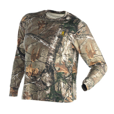 Browning Wasatch Jr Long Sleeve Shirt - Realtree Xtra -
