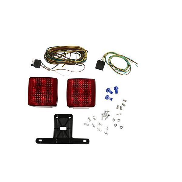 Attwood Square LED Trailer Light Kit - 022697140654