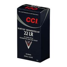 CCI 22LR Quiet-22 HP 40GR Copper-Plated Round Nose - 50 Round - 076683009708