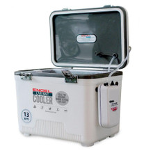 Engel 13QT White Live Bait Cooler with Aerator & Net - 816219024788