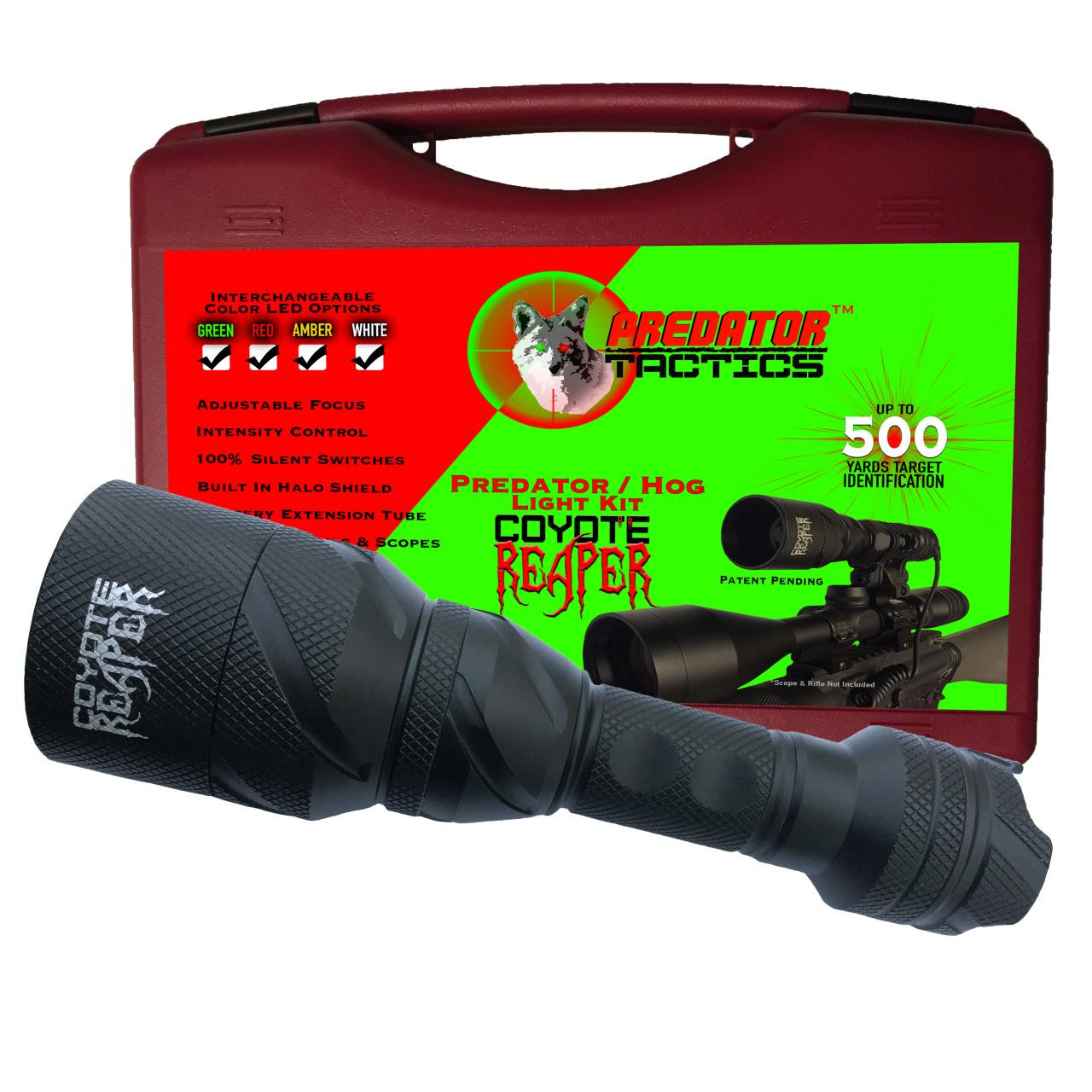Predator Tactics Coyote Reaper Light Kit - Green/Red/White LED - 640265974632