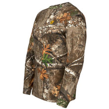 Scent Blocker Mens Long Sleeve Cotton Tee - Realtree Edge - 084229335655