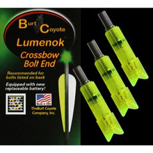 Burt Coyote Lumenok Crossbow Gold Tip Green Crescent Bolt - 3Pk - 850722003403