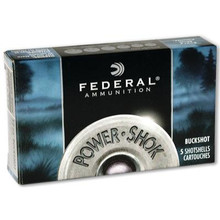 Federal Power-Shok 12 Gauge 3 Inch 1210 FPS 15 Pellets 00 Buck - 029465009649