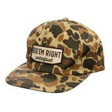 Rig Em Right Old School Camo Pinch Hat - 893136002259