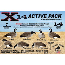 Big Al's Decoys X14 Greater Canadas Goose Silhouette Decoys - 14pk - 711583351921