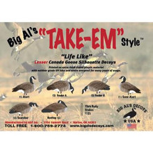 Big Al's Decoys Lesser Canadas Pack - 12pk -