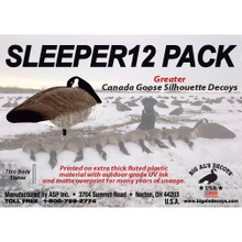 Big Al's Decoys Sleeper Canada Goose Decoys - 12pk - 713289432706