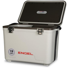 Engel Coolers 19qt Leak-Proof Air-Tight Storage Drybox - White - 816219020322