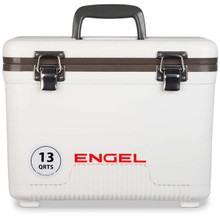 Engel Coolers 13qt Leak-Proof Air-Tight Storage Drybox - White - 816219020285