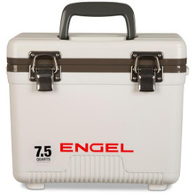 Engel Coolers 7.5qt Leak-Proof Air-Tight Storage Drybox - White - 816219025754