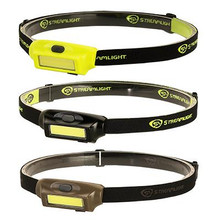 Streamlight Bandit Rechargeable LED Headlamp - Coyote With Green LED - White/Green LED - With Elastic Headstrap & USB Cord - Clam - 080926617070