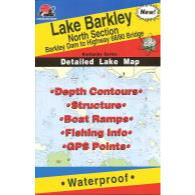 Fishing Hot Spots Lake Barkley North Map