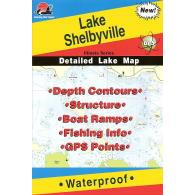 Fishing Hot Spots Lake Shelbyville Map