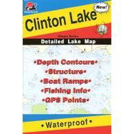 Fishing Hot Spots Clinton Lake Map