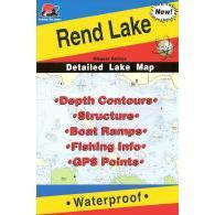 Fishing Hot Spots Rend Lake Map