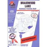 Fishing Hot Spots Braidwood Lake Map