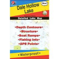 Fishing Hot Spots Dale Hollow Lake Map - Tennessee