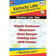 Fishing Hot Spots Kentucky Lake-north Map