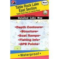 Fishing Hot Spots Table Rock Lake-east Map