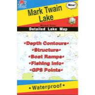 Fishing Hot Spots Mark Twain Reservoir Map