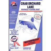 Crab Orchard Lake MFishing Hot Spots Crab Orchard Lake Map