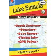Fishing Hot Spots Lake Eufala Map