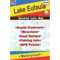 Fishing Hot Spots Lake Eufala Map