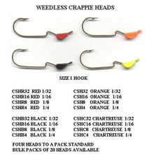 Slider Crappie Head 4pk