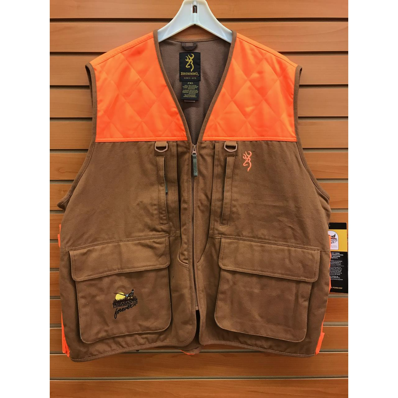 34d52a0f40023 ... Men's Hunting Clothing · Vests & Blaze Orange; Browning Pheasants  Forever Vest. Browning Pheasants Forever Vest - 023614046097