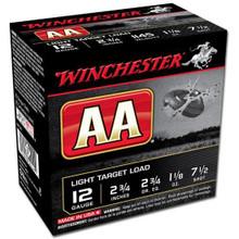 "Winchester AA 12GA 2-3/4"" 1-1/8OZ 7.5's Case"