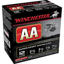 "Winchester AASC 12GA 2-3/4"" 1-1/8OZ 7.5's Case"