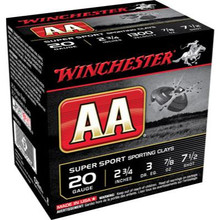 "Winchester AASC 20GA 2-3/4"" 7/8OZ 7.5's Case"