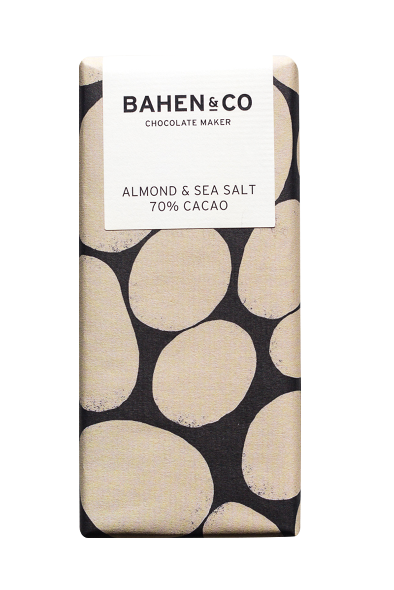 Almond and Sea Salt Stone Ground Chocolate Bar