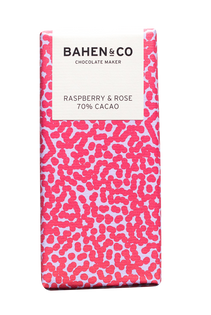 Raspberry & Rose Stone Ground Chocolate Bar
